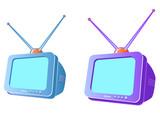 modern crt television set poster