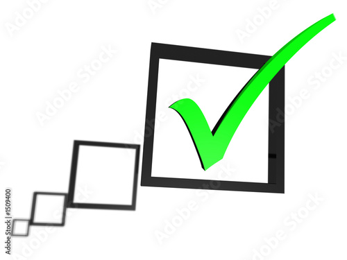 green tick in a check box list