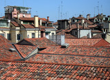 italian roofs poster