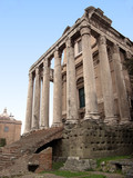 temple in the roman forum poster