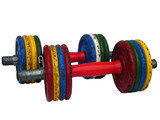 weightlifting dumbbell bars poster