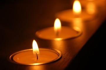 rangée de bougies