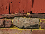 painted boards & stonework detail