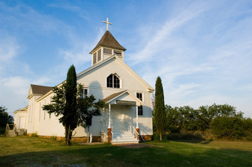 old american pioneer country church