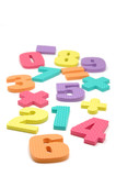 foam numbers and maths symbols poster