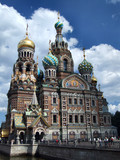 famous russian landmark - orthodox cathedral poster