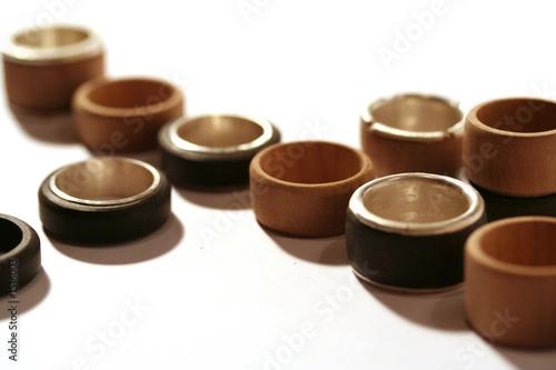 ringe aus holz und silber von mareen friedrich lizenzfreies foto 1516003 auf. Black Bedroom Furniture Sets. Home Design Ideas