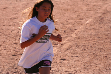 race running girl