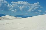 white sand dunes poster