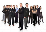 entrepreneurs and their business team poster