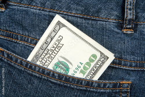 banknote in hip-pocket of jeans
