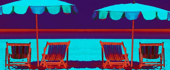 liegestühle / strand