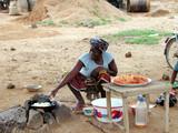 plats cuisinés au village poster