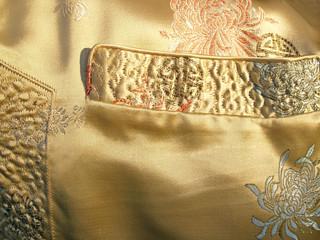 chinese silk jacket--  pocket & side detail