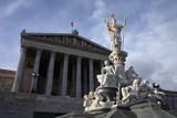 austrian parliament in vienna - austria - europe poster