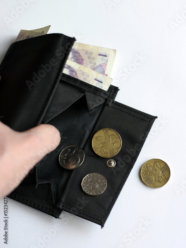 billfold in the hand - money