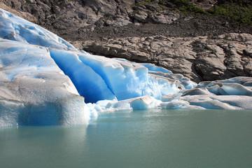 a glacier in detail