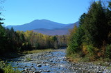 mt washington and rocky stream poster