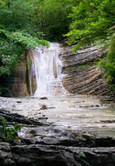 northern caucasian waterfall