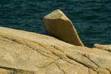 pink granite monolith in acadia poster