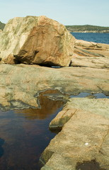 boulders on coast in maine