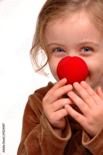 silly clown girl