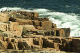 pink granite cliffs in acadia national park poster