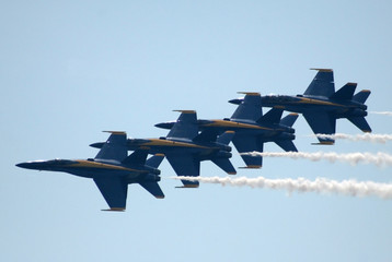 navy blue angels in flight