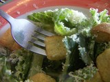 caesar salad and fork