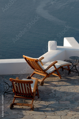 incredible santorini patio with view