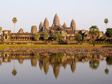 angkor wat in the evening light poster