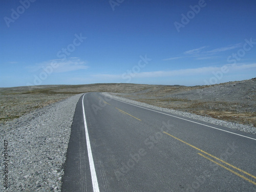 poster of empty and straight road on desert