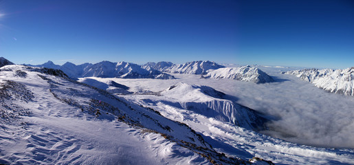 panoramic winter alpes