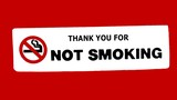 not smoking sign.thank you for not smoking sign poster