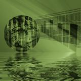 world wide web - internet 3d reflected poster