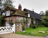 english village cottage poster