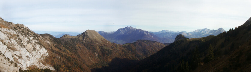 montagnes d'automne