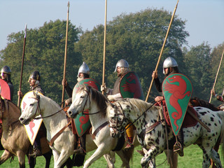 norman knights on horseback