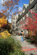 fall scene at college residence