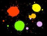 ink splatters poster