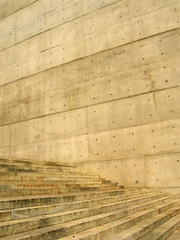 betontreppe an betonwand