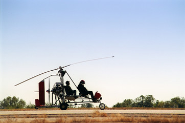 gyrocopter silhouette