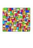 rectangle - stain glass poster