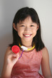 girl holding stethoscope