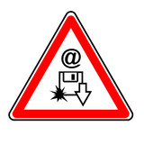 danger virus email poster