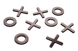 tic-tac-toe isolated on white background poster