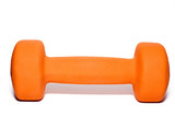 dumbbell isolated on white background poster