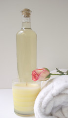 natures massage oil with rose