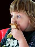 girl eating poster