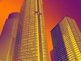 skyscrapers - global warming poster